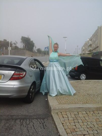 Vestido  de  Noiva  Verde  agu
