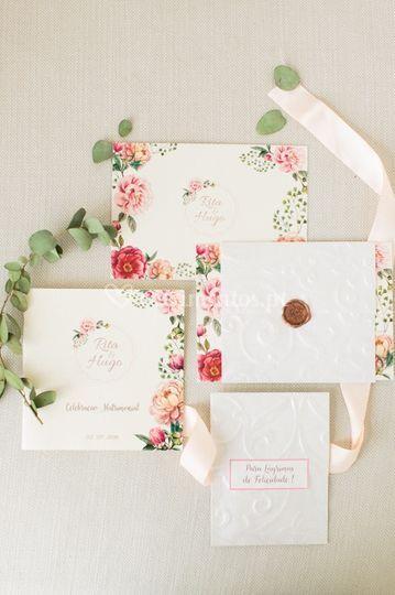 Imagem grafica floral chic