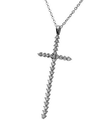 Crucifixo prateado