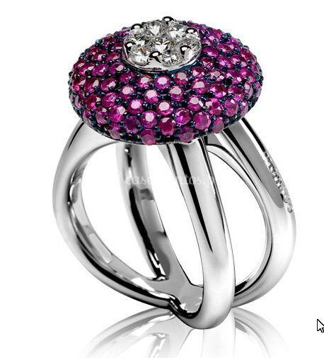 A Elegância das pedras na cor lilás