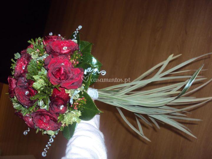 Ramo de noiva vermelho