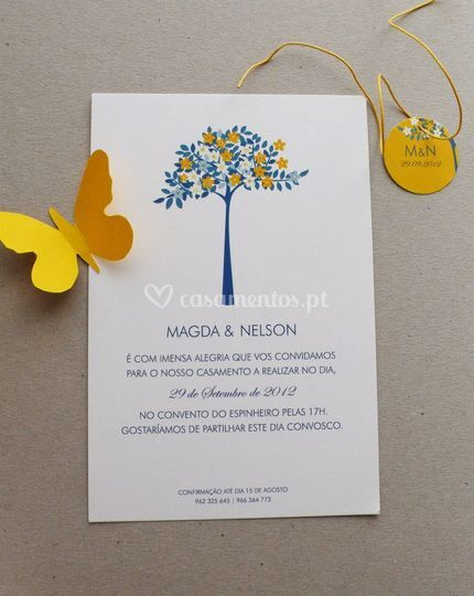 Convite Magda e Nelson