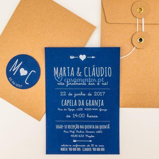 Blue convite