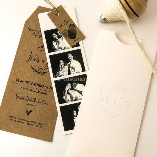 Convite Polaroid
