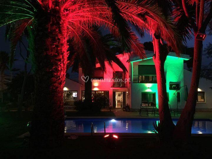 Iluminação decoração exterior