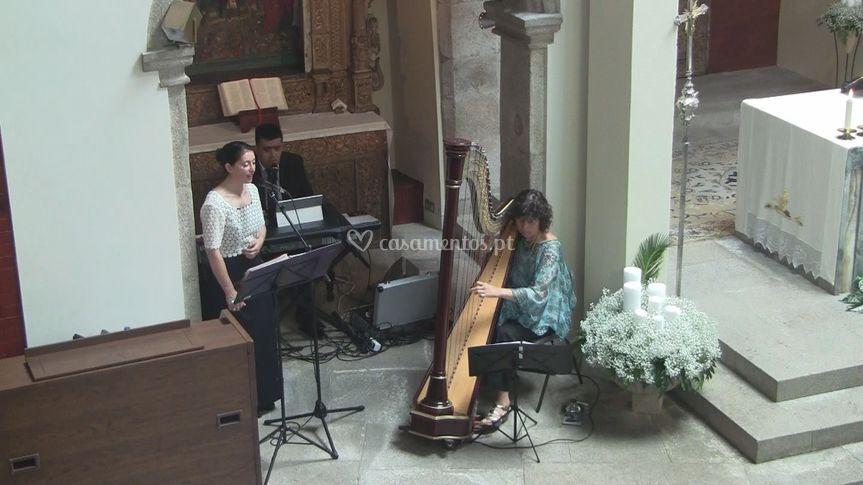 Cerimónia com harpa