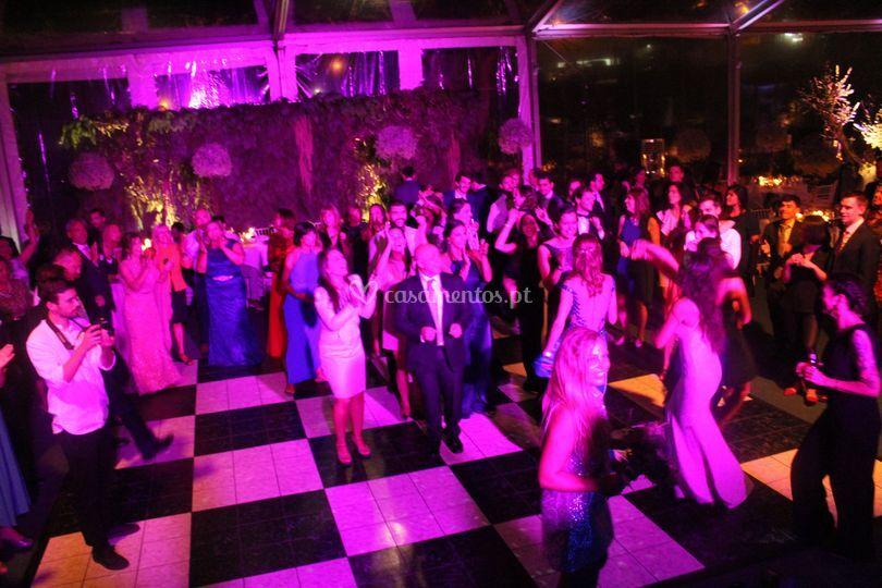 Pista de dança em pvc