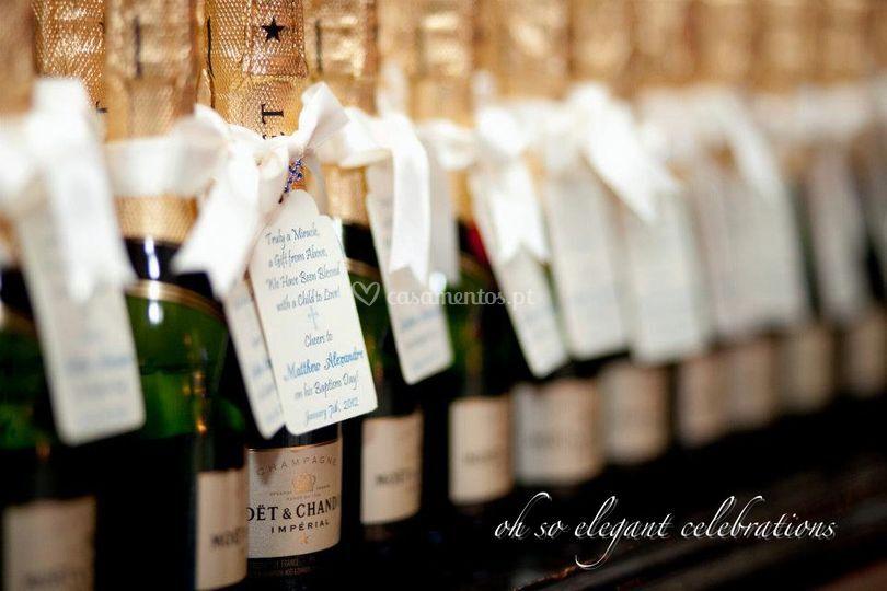 Garafas champagne lembrancas