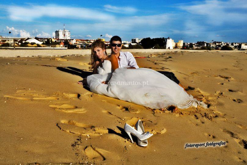 Vera e Sérgio sessão na praia