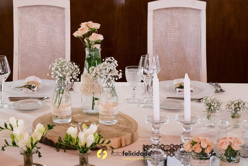 Decoração das mesas