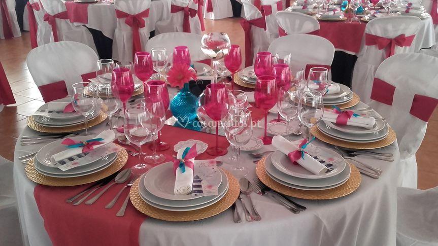 Conjunto copos rosa