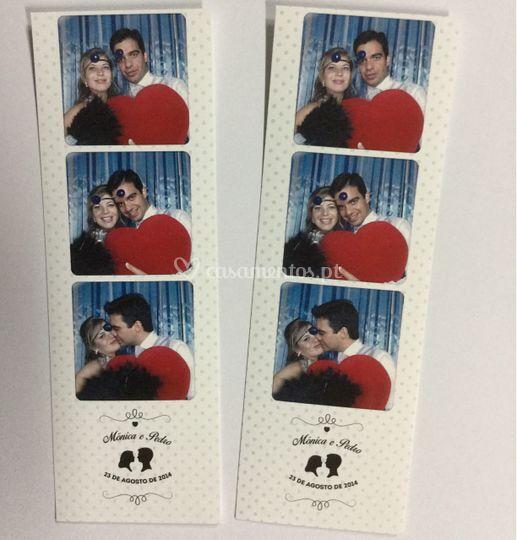 Photobooth com foto em 2 tiras