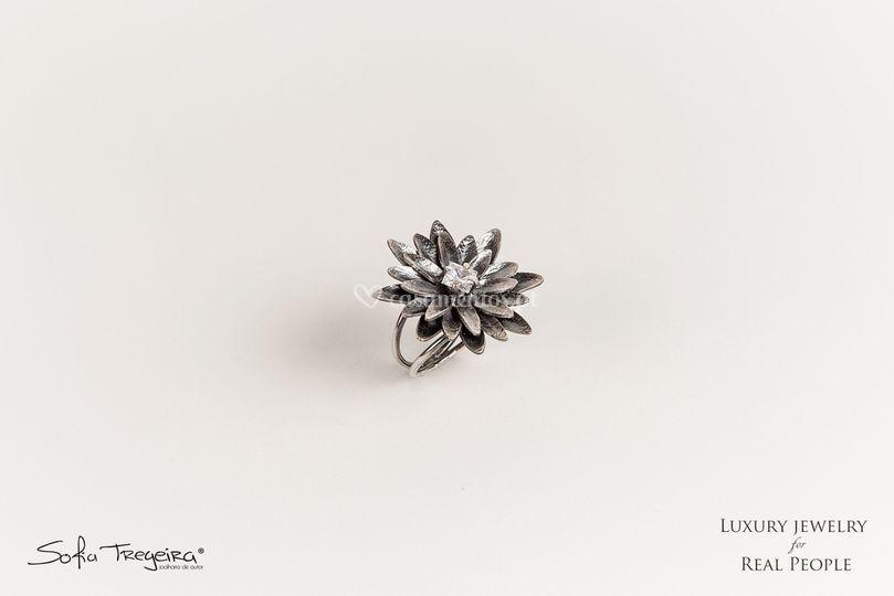 Anel em Prata - Lotus
