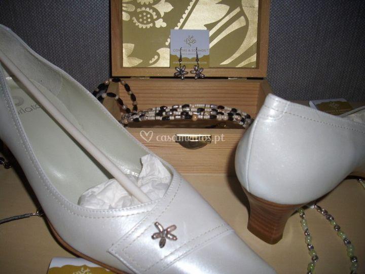 Sapato de noiva com pérola