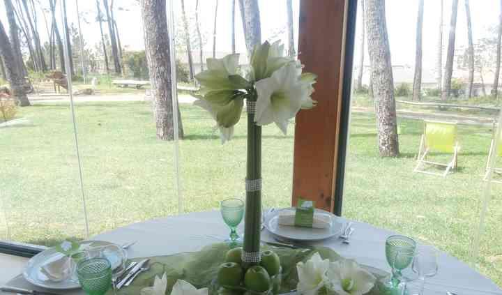 Decoração mesas convidados