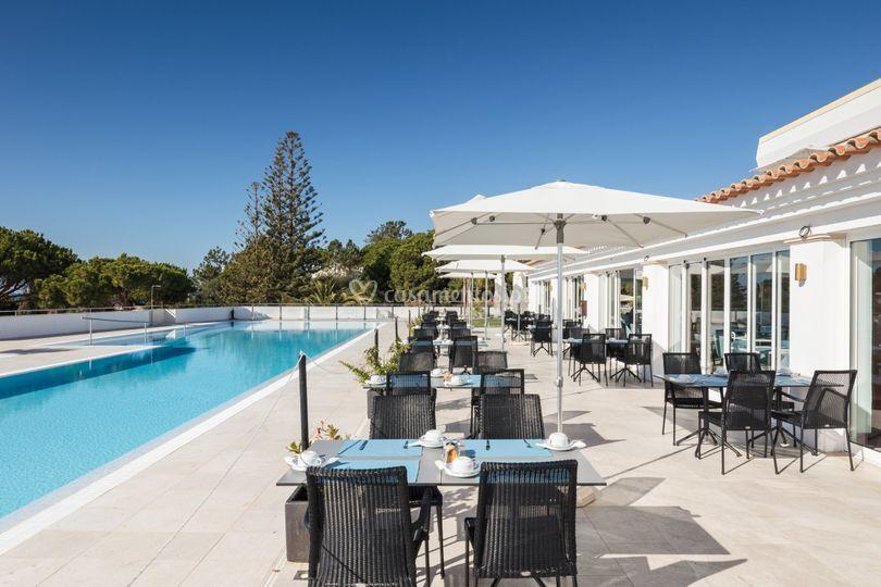 KamalRestaurante vista piscina