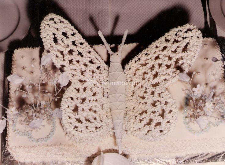 Bolo de casamento borboleta