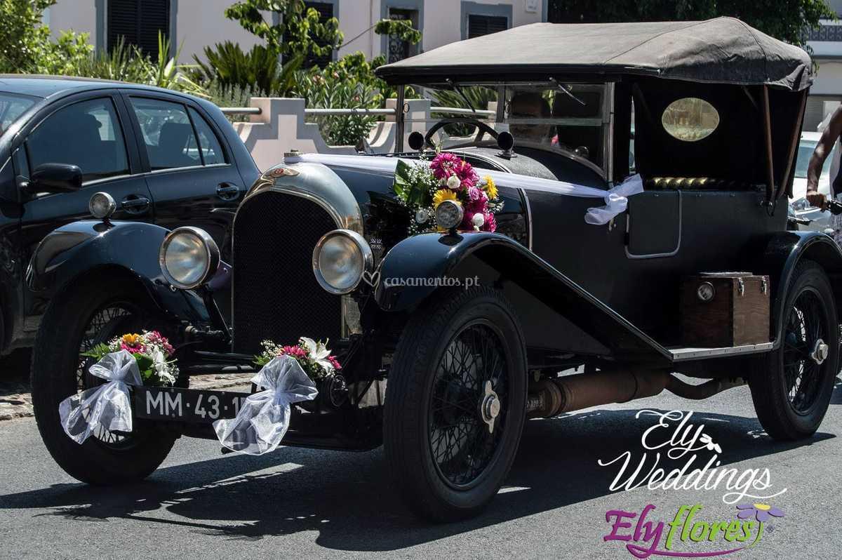 Decoração carro clássico