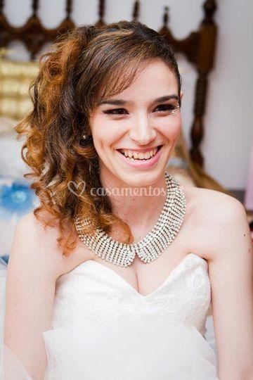 Maquilhagem ousada de noiva