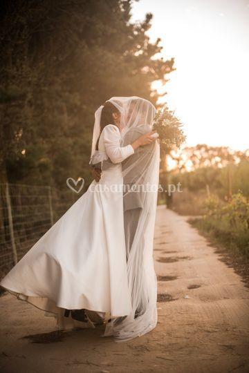 Noivos no casamento