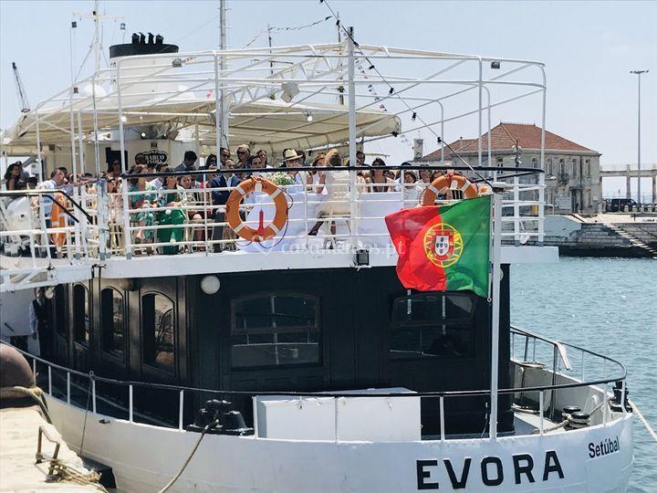Cerimónia a bordo