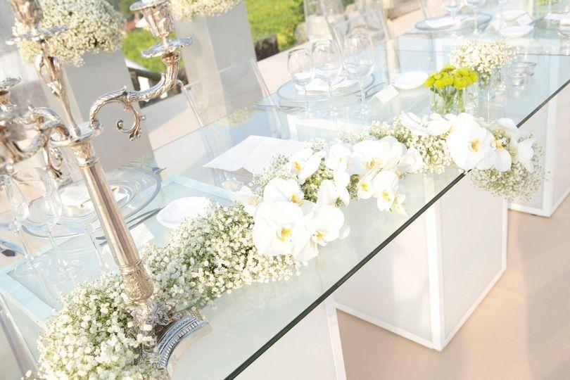 Mesas quadradas de vidro