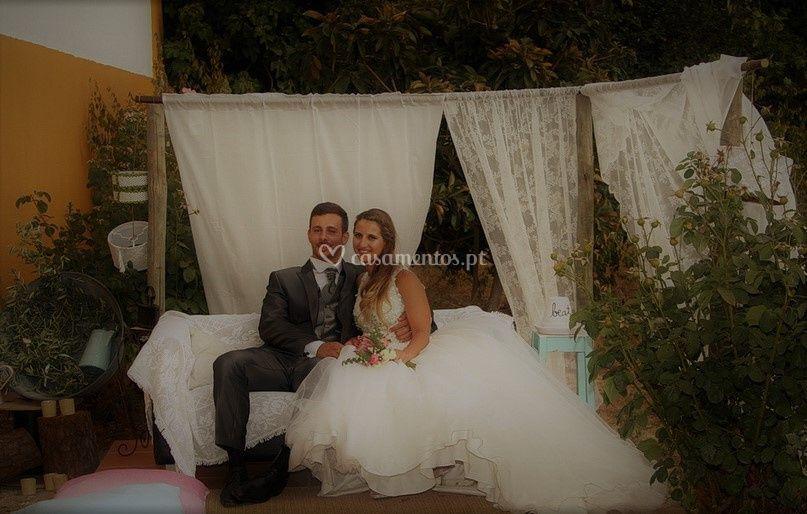A felicidade dos noivos