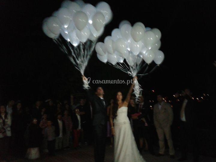 Balões com leds