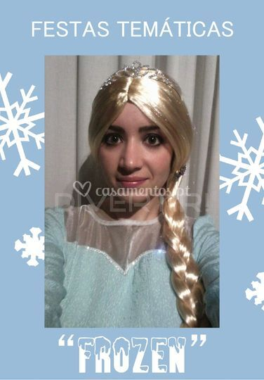 "Animadora fantasiada de ""Elsa"""