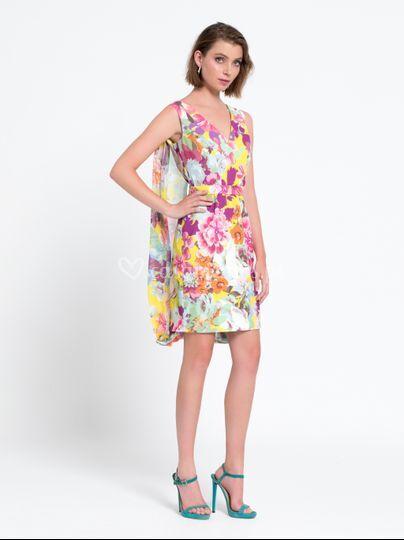Vestido curto floral LB