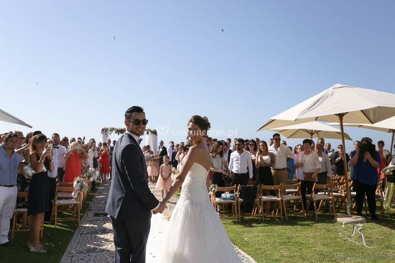 Casamento á beira mar