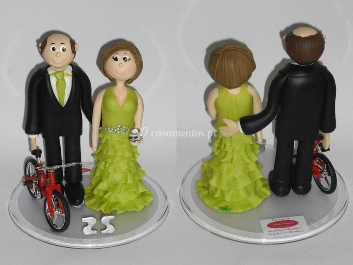 Topo de bolo - bodas prata
