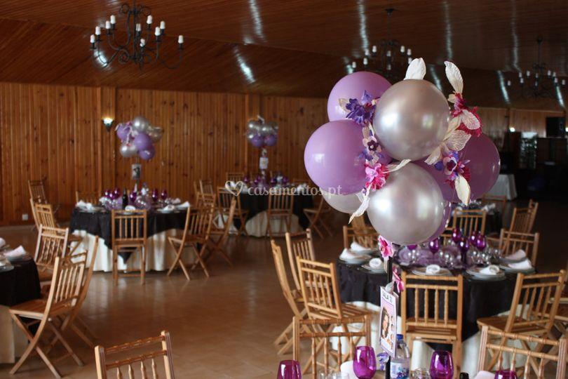 MIX - flores e balões