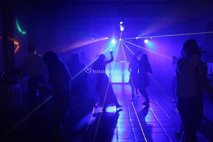 Sistema de luzes p/pista dança