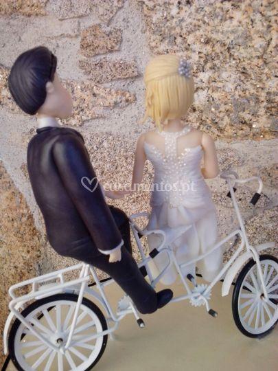 Noivos na bici
