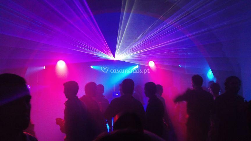 Luzes pista de dança