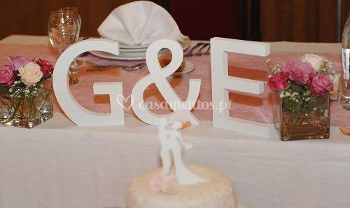 Noivos para bolo e letras mdf