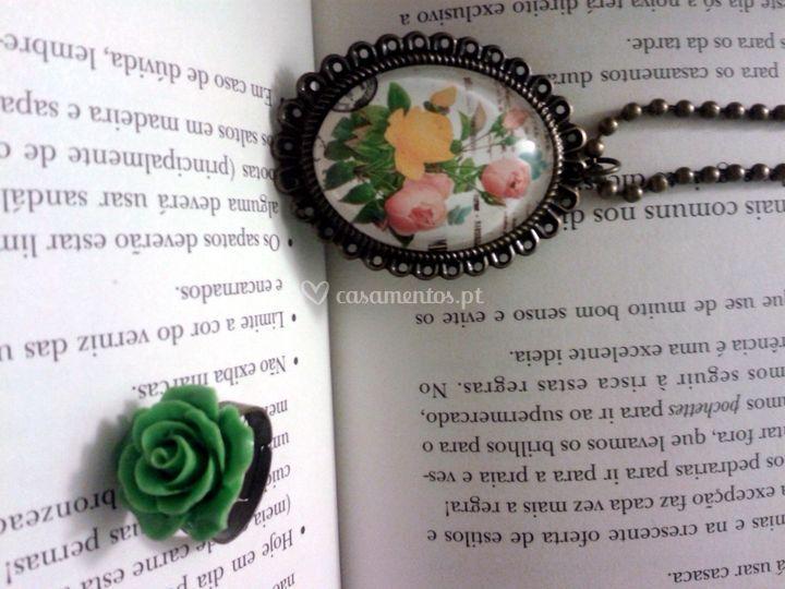 Conjunto colar e anel