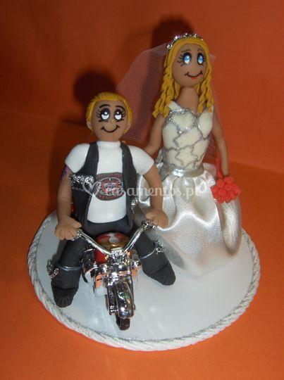 Noivos motard