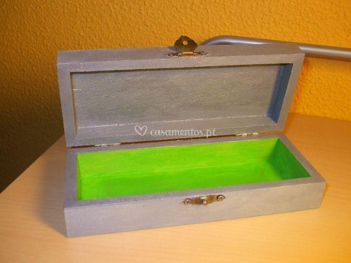 Marcador de mesa tipo porta fotos em cor verde com prata