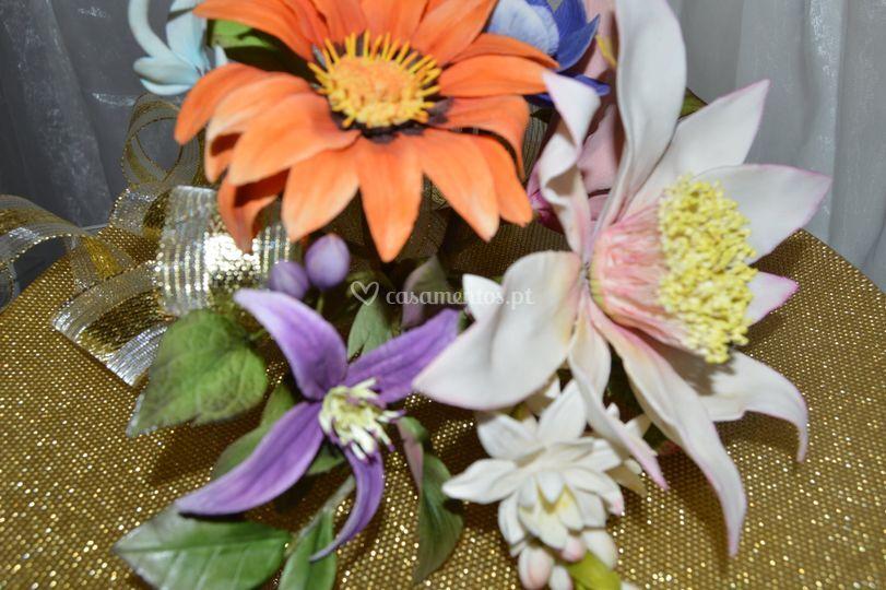 Bouquet de flores de açúcar