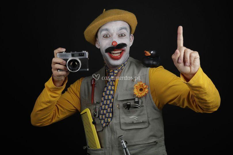 Fotógrafo palhaço