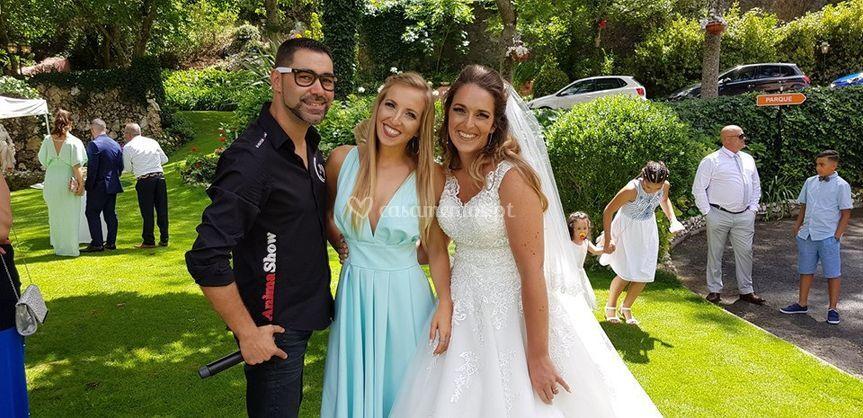 Foto com madrinha noiva