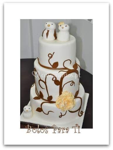 Bolo casamento topo de bolo