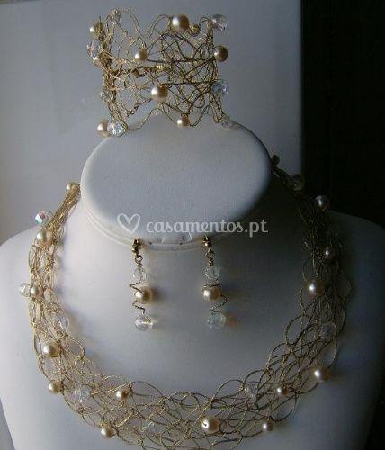 Conjunto Joana em dourado