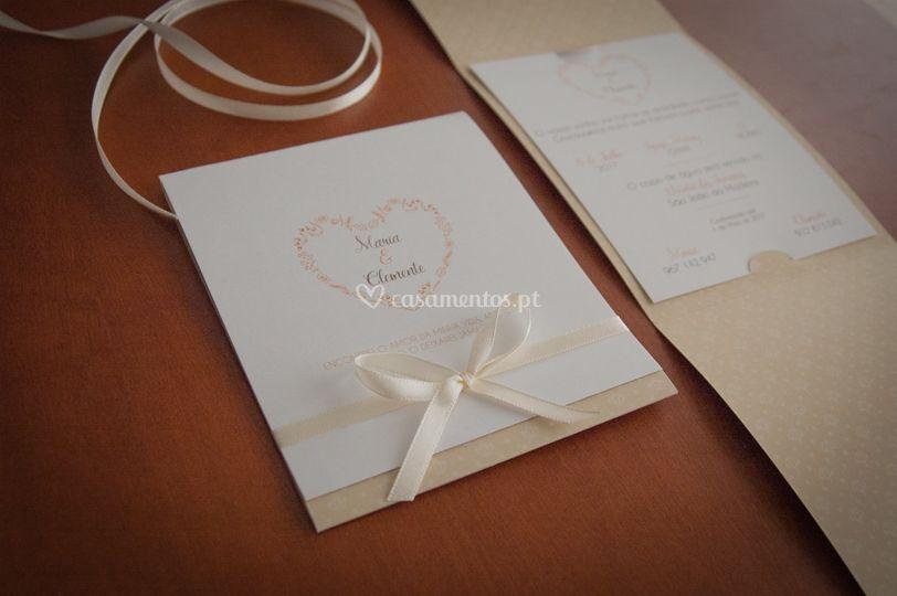 Convite casamento - Elegance