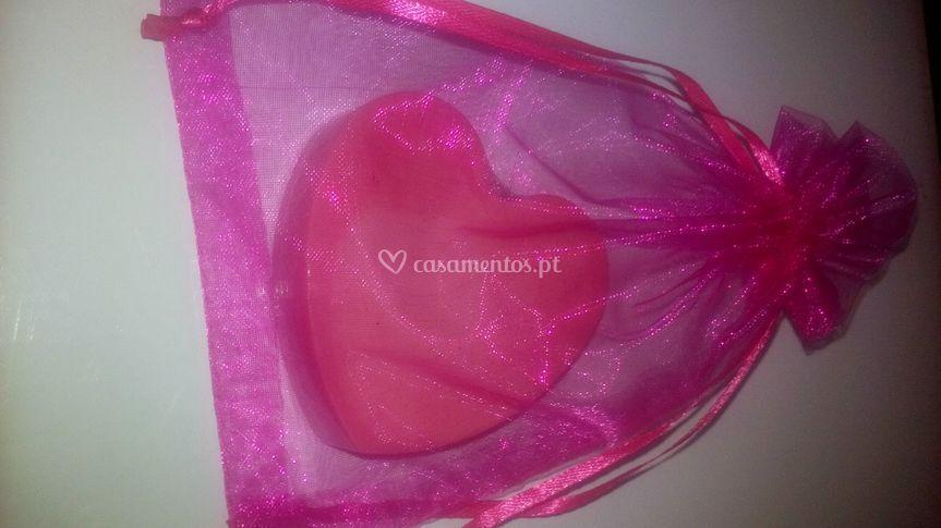 Sabonete decorativo coração