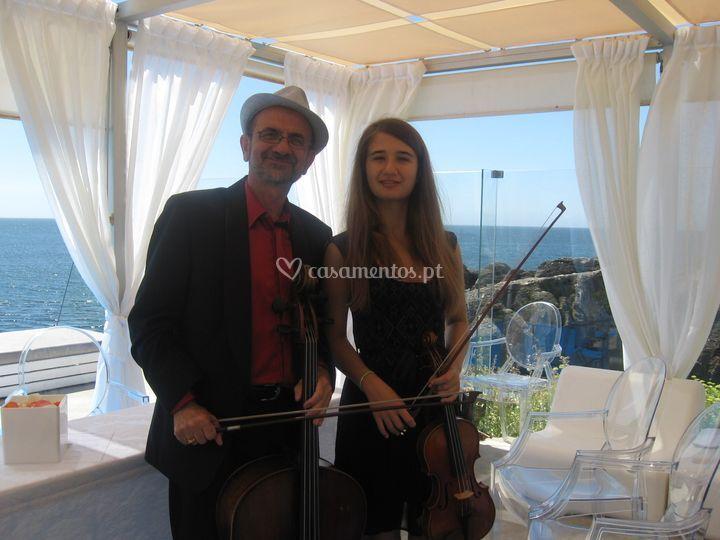 Duo de cordas