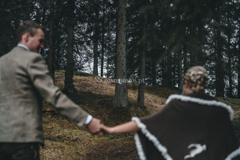Juntos na floresta