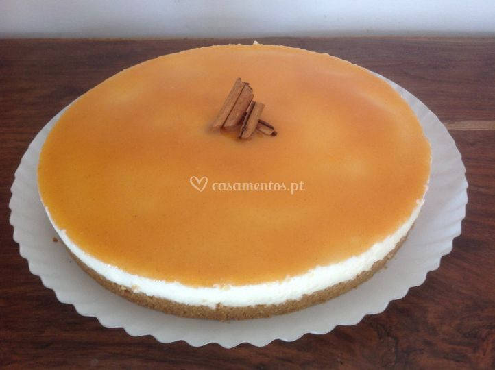Cheesecake de requeijão c/ abó